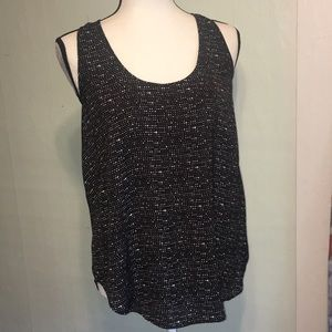 French Connection Black pattern sleeveless blouse